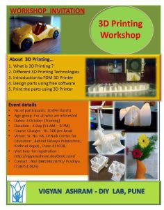 3D printing workshop @ DIY Lab Pune.